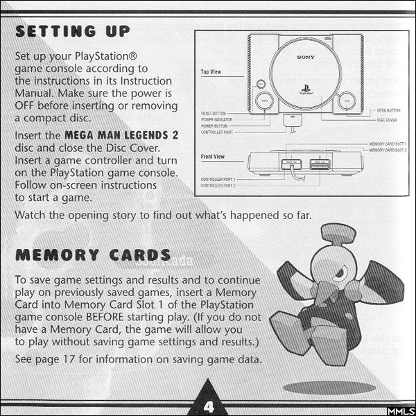 mega man legends station instruction manual scans rh legends station com PlayStation 3 Game Manuals PlayStation Buttons